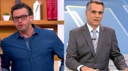 Fernando Rocha não aguenta e chora ao vivo morte de apresentador da Globo