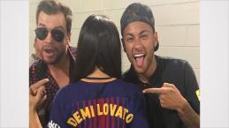 Bruna trocada? Foto da noitada de Neymar com Demi Lovato vaza e surpreende